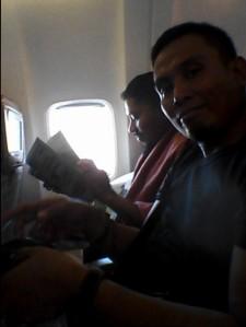 Teman Tim SulSel yang duduk di seberangku (foto: Dokumen Pribadi)